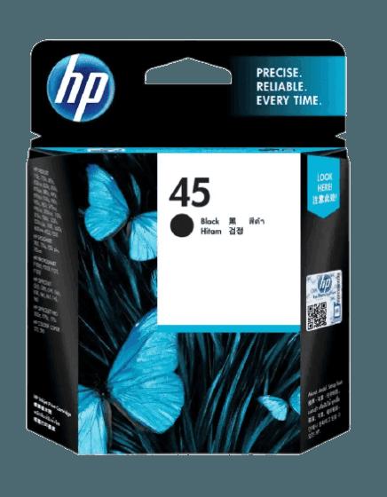 HP 45 검정 정품 잉크 카트리지