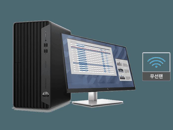 프로데스크 400 G7 i7 마이크로 타워 + E27 G4 FHD 모니터