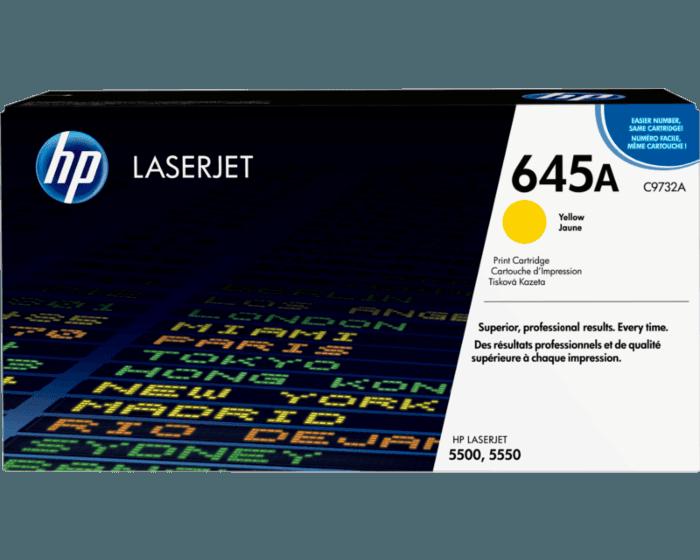 HP 645A 노랑 정품 레이저젯 토너 카트리지