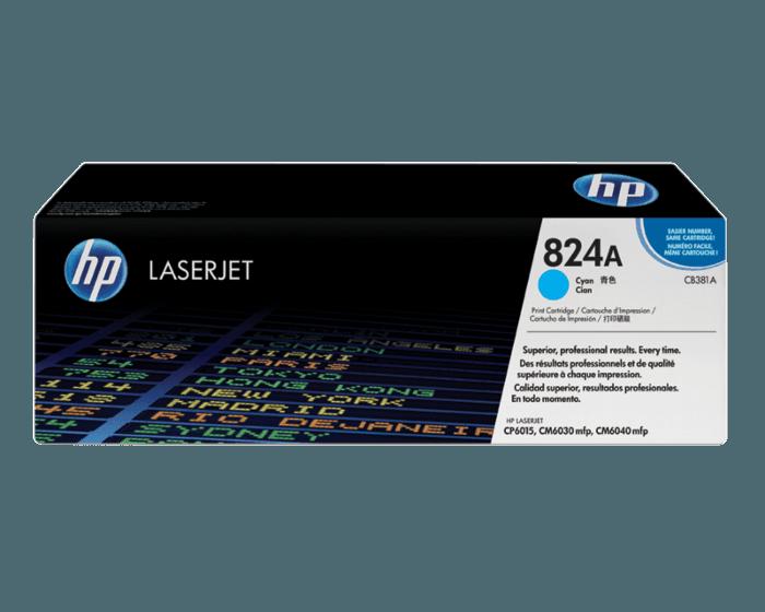 HP 824A 시안 정품 레이저젯 토너 카트리지