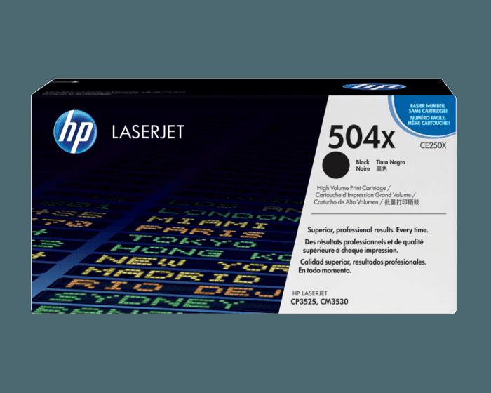HP 504X 대용량 검정 정품 LaserJet 토너 카트리지