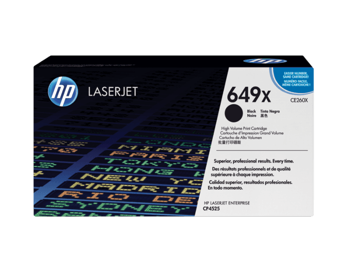 HP 649X 대용량 검정 정품 레이저젯 토너 카트리지