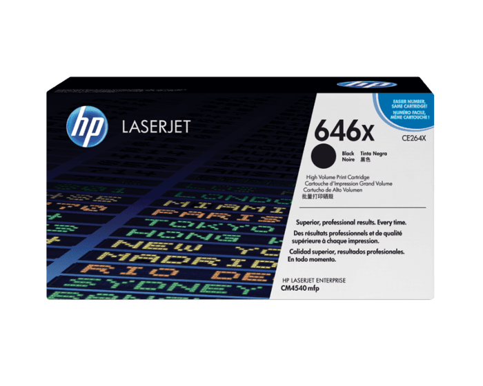 HP 646X 대용량 검정 정품 레이저젯 토너 카트리지