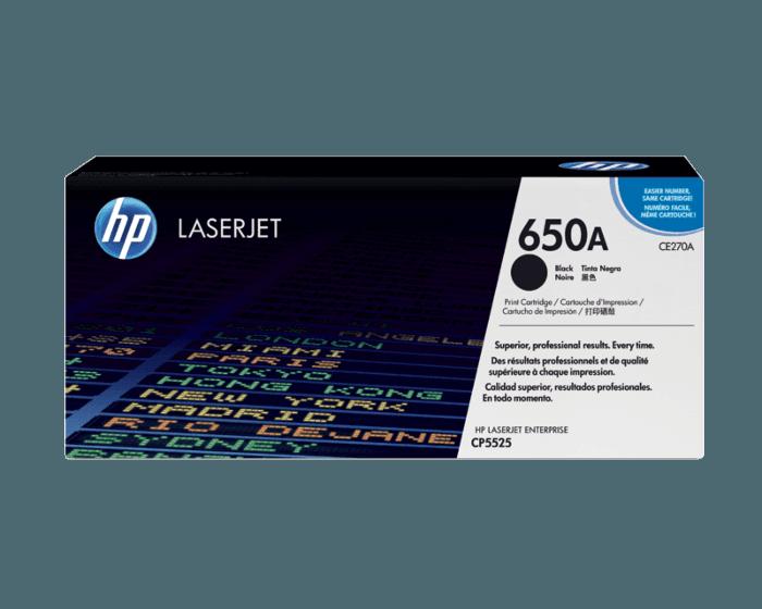 HP 650A 검정 정품 레이저젯 토너 카트리지