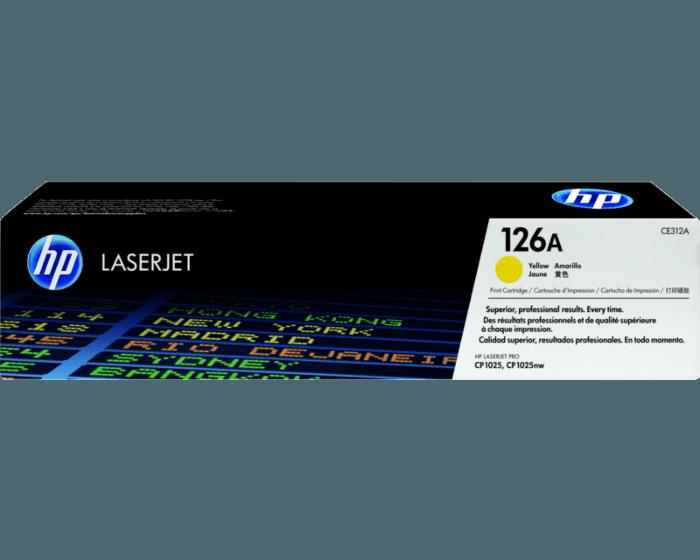 HP 126A 노랑 정품 레이저젯 토너 카트리지