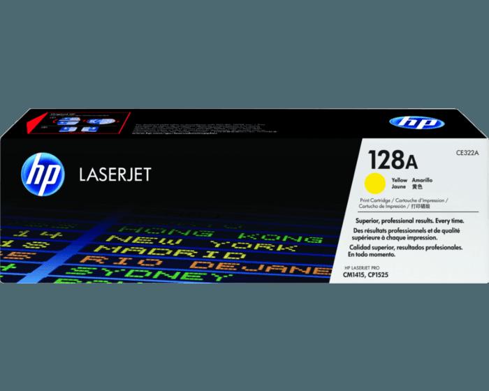 HP 128A 노랑 정품 LaserJet 토너 카트리지