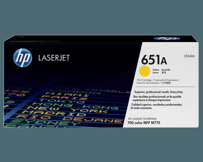 HP 651A 노랑 정품 레이저젯 토너 카트리지