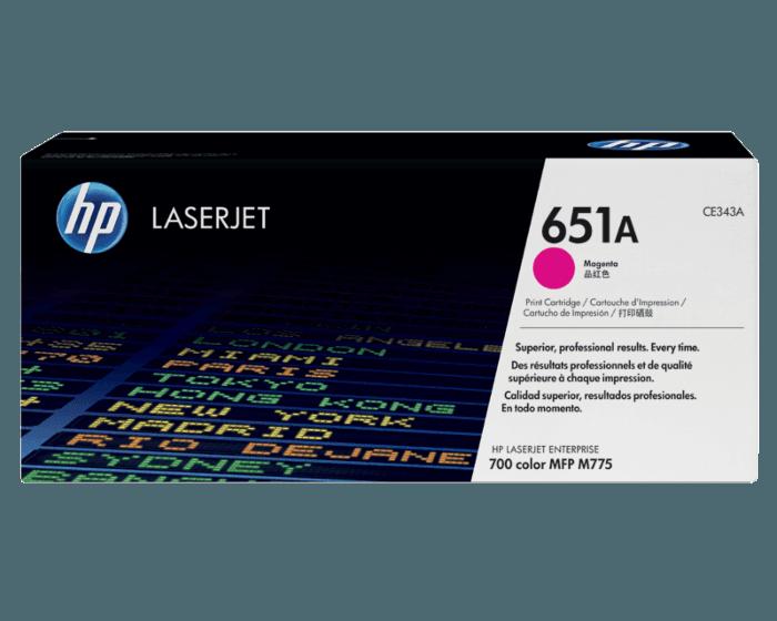 HP 651A 마젠타 정품 레이저젯 토너 카트리지