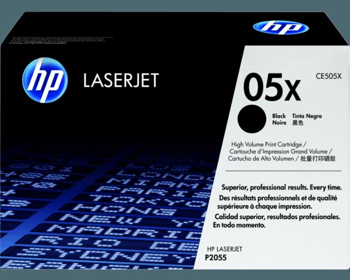 HP 05X 대용량 검정 정품 레이저젯 토너 카트리지