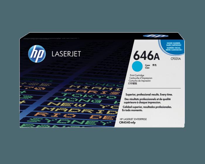 HP 646A Cyan Original LaserJet Toner Cartridge