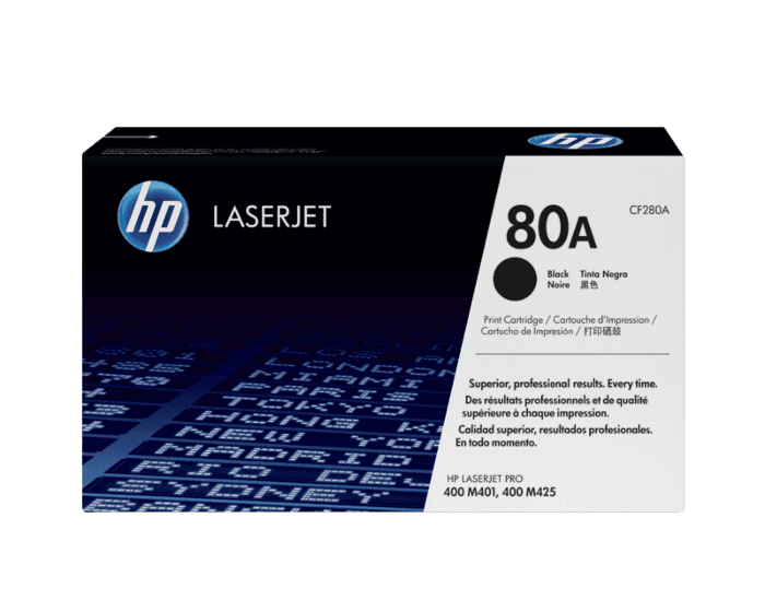 HP 80A 검정 정품 레이저젯 토너 카트리지