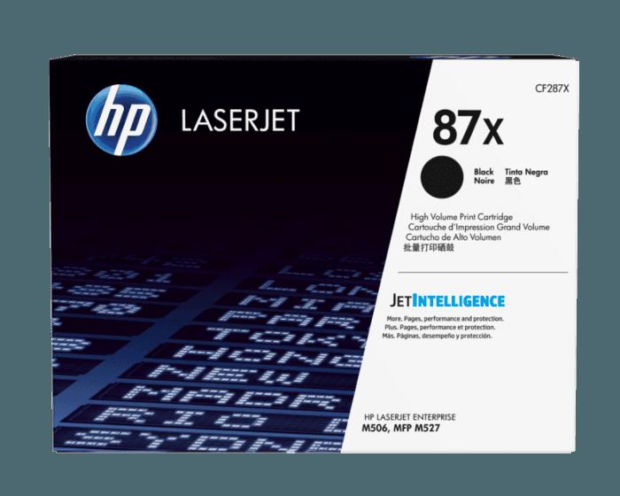 HP 87X 대용량 검정 정품 LaserJet 토너 카트리지