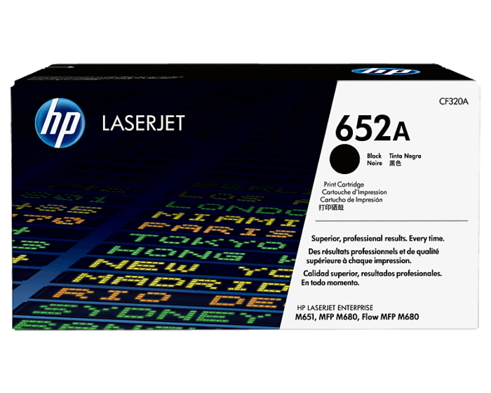 HP 652A Black Original LaserJet Toner Cartridge