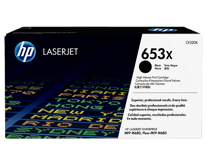 HP 653X 대용량 검정 정품 레이저젯 토너 카트리지