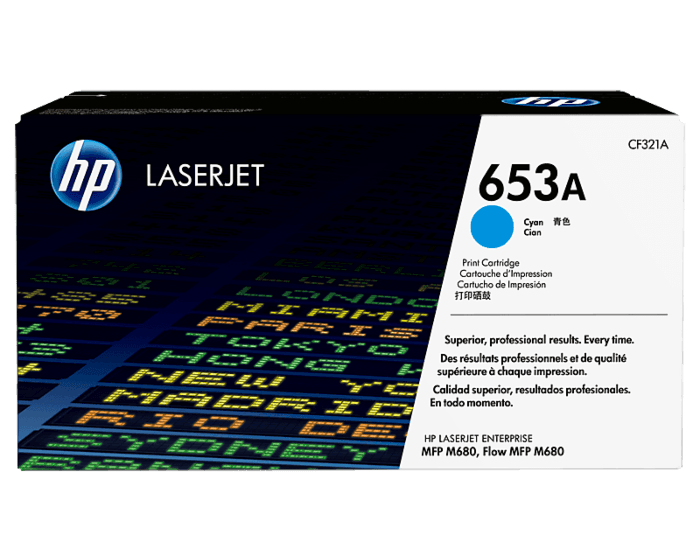 HP 653A 시안 정품 레이저젯 토너 카트리지