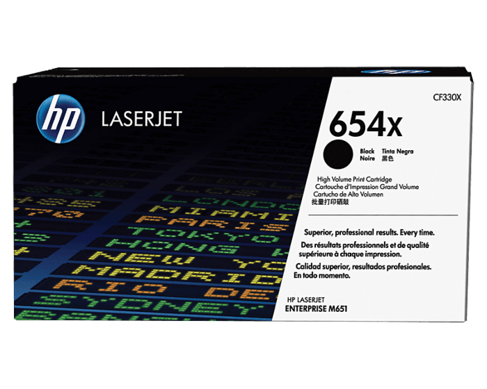 HP 654X 대용량 검정 정품 레이저젯 토너 카트리지