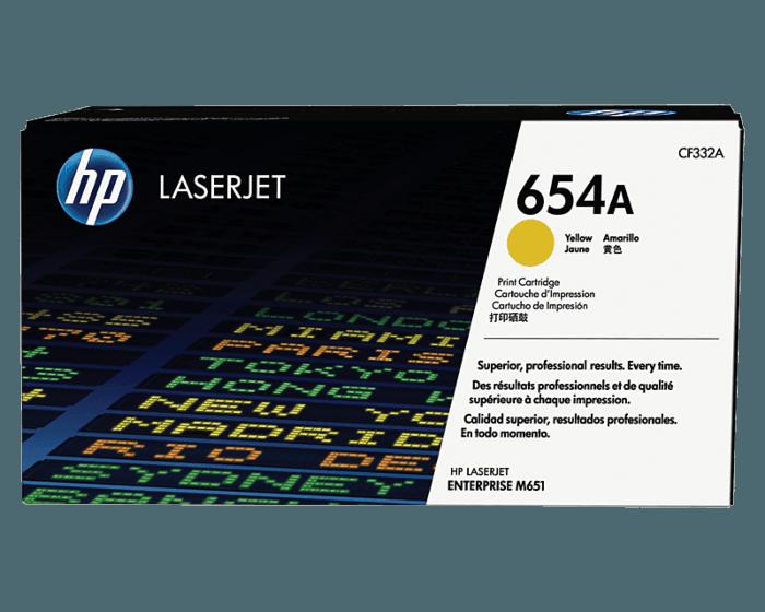 HP 654A 노랑 정품 레이저젯 토너 카트리지