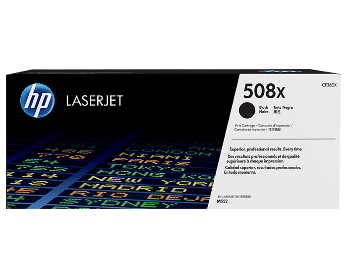 HP 508X 대용량 검정 정품 레이저젯 토너 카트리지