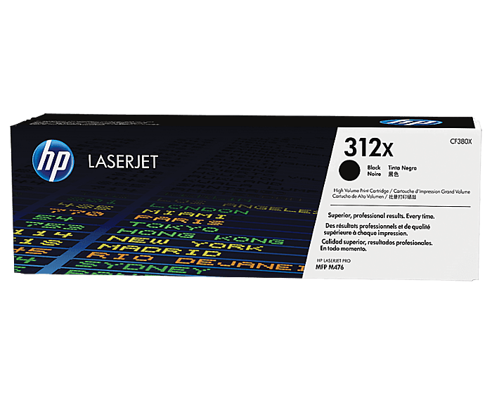 HP 312X 대용량 검정 정품 레이저젯 토너 카트리지