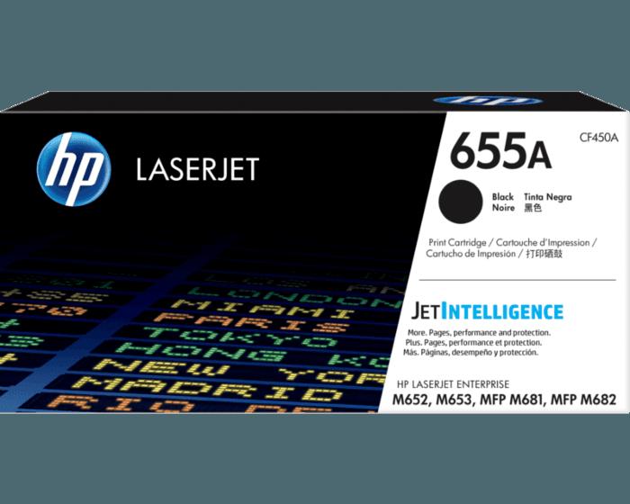 HP 655A 검정 정품 LaserJet 토너 카트리지