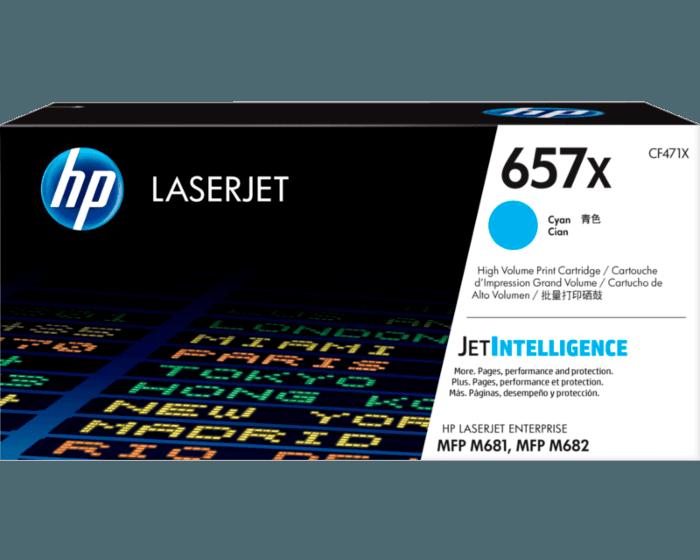 HP 657X 대용량 시안 정품 LaserJet 토너 카트리지