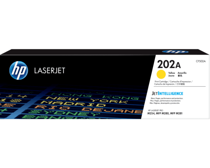 HP 202A 노랑 정품 LaserJet 토너 카트리지