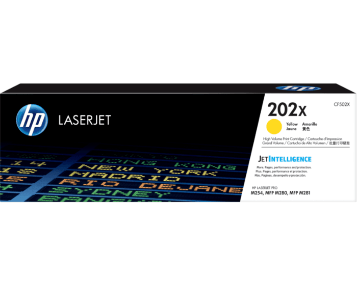 HP 202X 대용량 노랑 정품 LaserJet 토너 카트리지