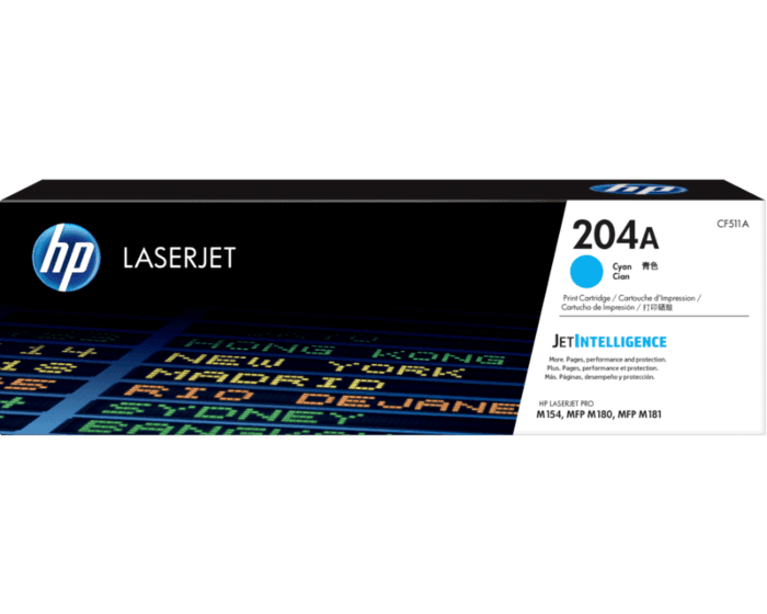 HP 204A 시안 정품 LaserJet 토너 카트리지