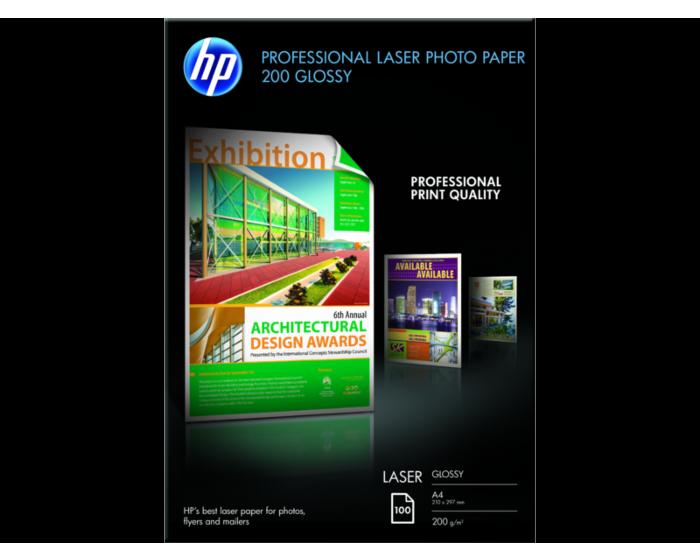 HP 전문가용 광택 레이저 포토 용지 200gsm-100매/A4/210 x 297mm