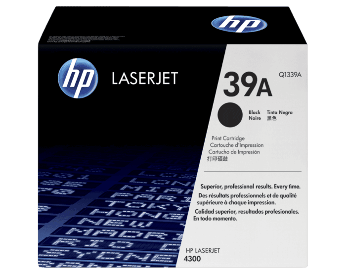 HP 39A 검정 정품 레이저젯 토너 카트리지