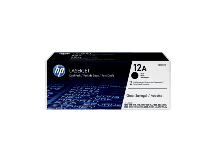 HP 12A 2팩 검정 정품 LaserJet 토너 카트리지