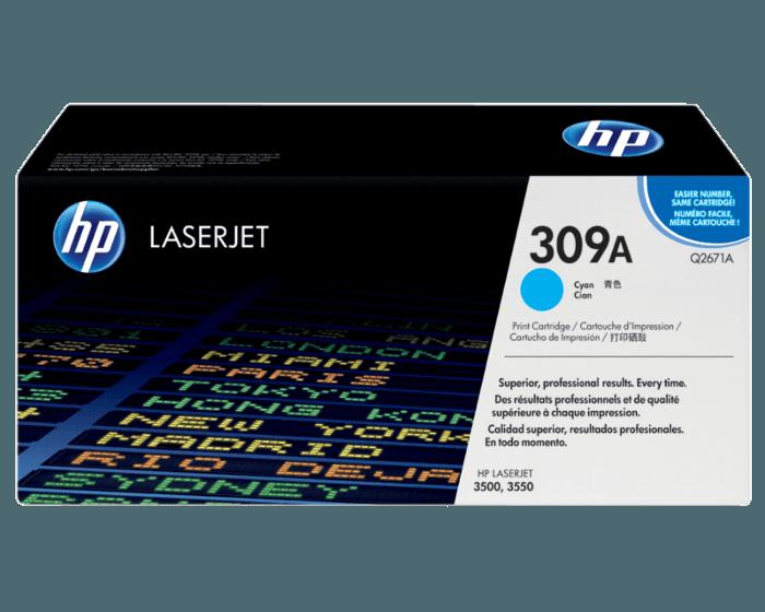 HP 309A 시안 정품 레이저젯 토너 카트리지
