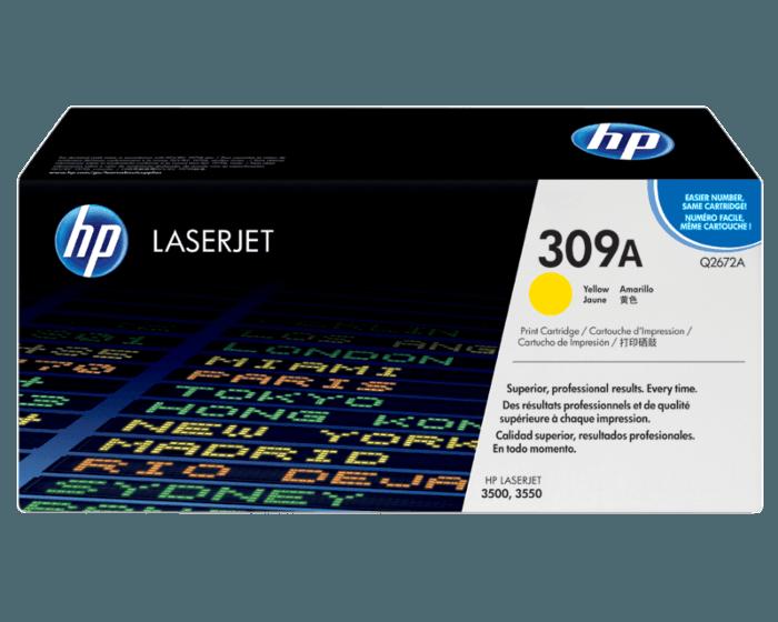 HP 309A 노랑 정품 레이저젯 토너 카트리지
