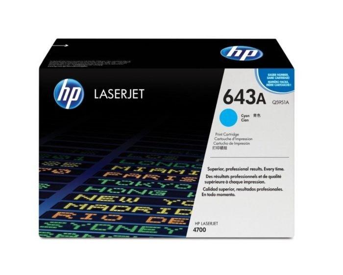 HP 643A Cyan Original LaserJet Toner Cartridge