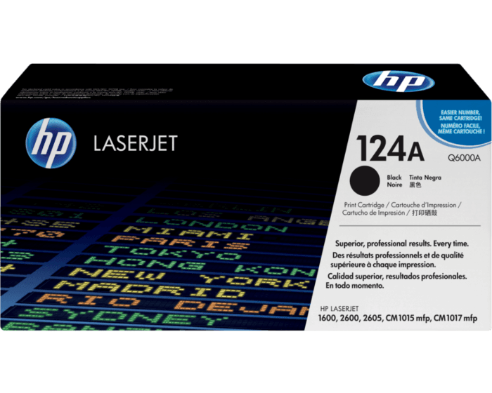 HP 124A Black Original LaserJet Toner Cartridge