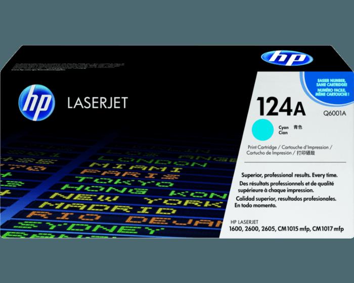 HP 124A 시안 정품 레이저젯 토너 카트리지