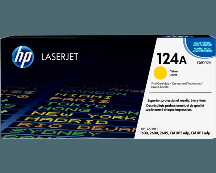 HP 124A 노랑 정품 레이저젯 토너 카트리지