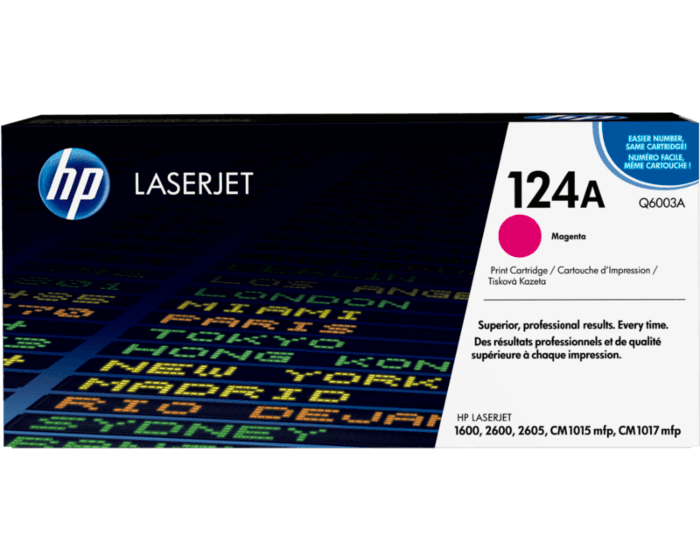 HP 124A 마젠타 정품 레이저젯 토너 카트리지