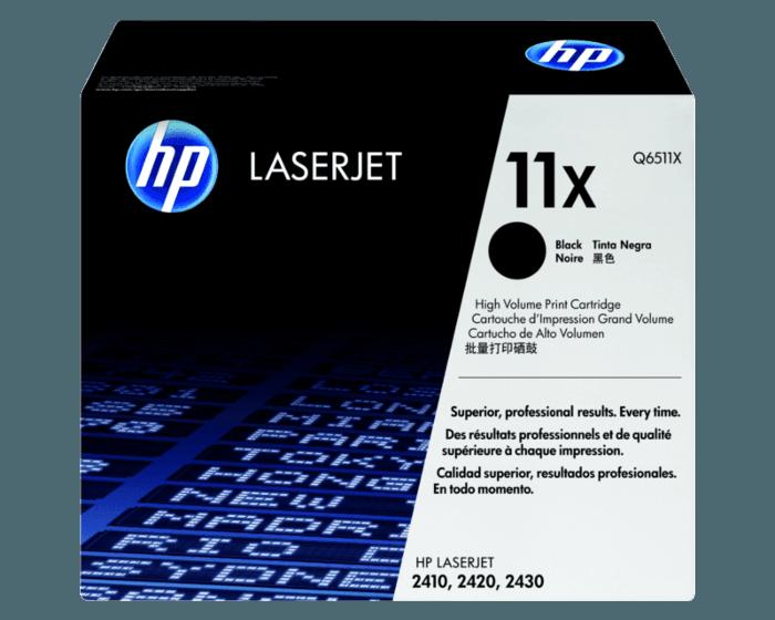 HP 11X 대용량 검정 정품 레이저젯 토너 카트리지