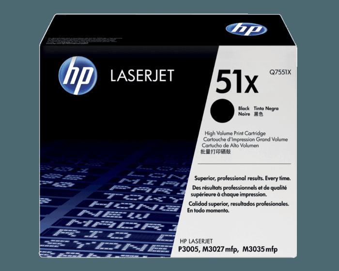 HP 51X 대용량 검정 정품 레이저젯 토너 카트리지
