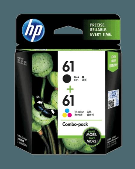 HP 61 2팩 검정/3색 정품 잉크 카트리지