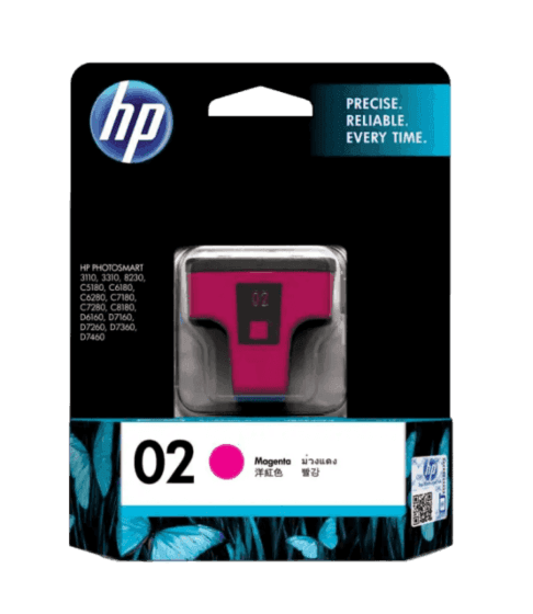 HP 02 마젠타 정품 잉크 카트리지
