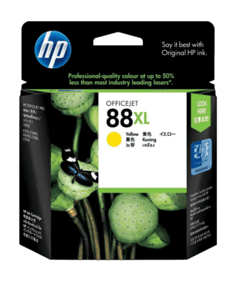 HP 88XL 대용량 노랑 정품 잉크 카트리지