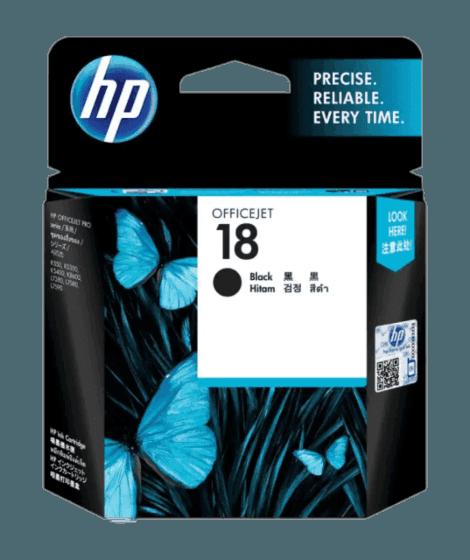 HP 18 검정 정품 잉크 카트리지