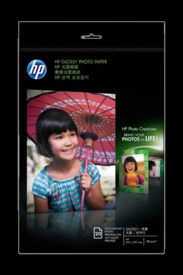HP 광택 포토용지 - 20매/A4/210x297mm
