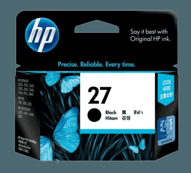 HP 27 검정 정품 잉크 카트리지