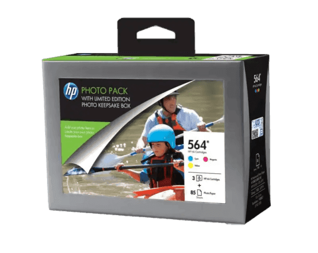 HP 564 Series Photosmart Value Pack-85 sht/10 x 15 cm with Photo Storage Box