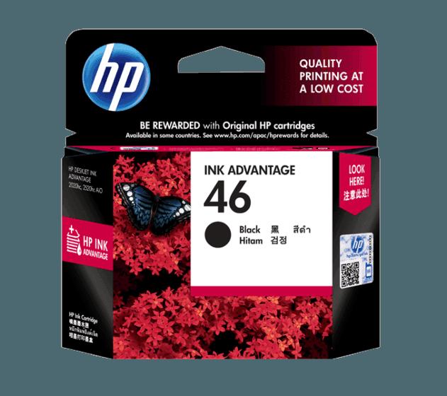 HP 46 검정 정품 잉크 어드밴티지 카트리지