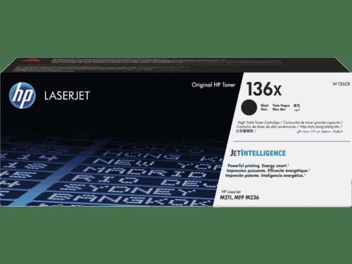 HP 136X 대용량 검정 정품 LaserJet 토너 카트리지