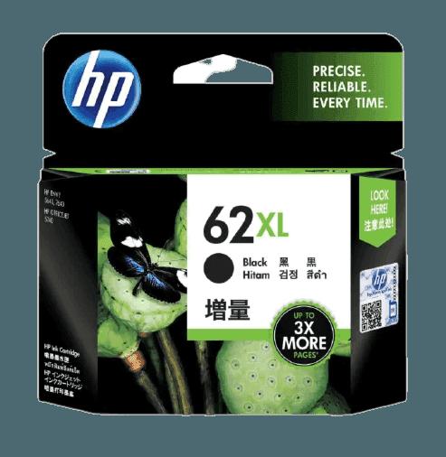 HP 62XL 대용량 검정 정품 잉크 카트리지